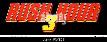 Prod DB © New Line Cinema / DR RUSH HOUR 3 de Brett Ratner 2007 USA titre suite, sequelle - Stock Photo