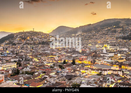 Quito, Ecuador, at night - Stock Photo