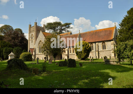 St Mary the Virgin Church, Hambleden, Buckinghamshire, England. - Stock Photo