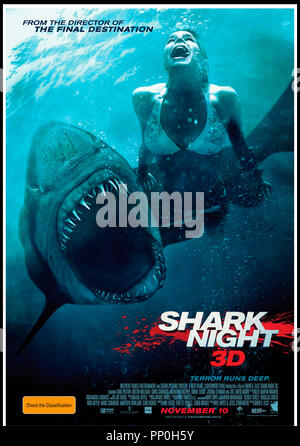 Prod DB © Incentive Filmed Entertainment - Next Films - Sierra Pictures / DR SHARK 3D (SHARK NIGHT 3D) de David R. Ellis 2011 USA affiche australienne requin, aventure, horreur - Stock Photo