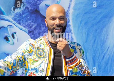 California, USA. 22nd Sep, 2018. Common at the Premiere of Warner Bros' 'Smallfoot' held at the Regency Village Theater in Westwood, CA, September 22, 2018. Photo by Joseph Martinez / PictureLux Credit: PictureLux / The Hollywood Archive/Alamy Live News - Stock Photo