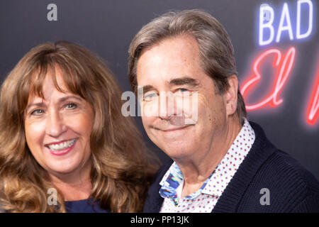 Hollywood, USA. 22nd Sep, 2018. Beau Bridges and Wendy Treece Bridges attends the premiere of 20th Century Fox's 'Bad Times at the El Royale' at TCL Chinese Theatre on September 22, 2018 in Hollywood, California. Credit: The Photo Access/Alamy Live News - Stock Photo