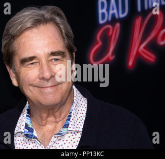Hollywood, USA. 22nd Sep, 2018. Beau Bridges attends the premiere of 20th Century Fox's 'Bad Times at the El Royale' at TCL Chinese Theatre on September 22, 2018 in Hollywood, California. Credit: The Photo Access/Alamy Live News - Stock Photo