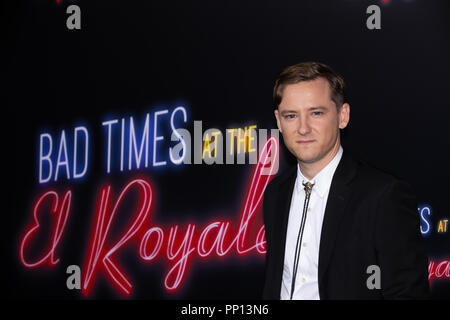 Hollywood, USA. 22nd Sep, 2018. Lewis Pullman attends the premiere of 20th Century Fox's 'Bad Times at the El Royale' at TCL Chinese Theatre on September 22, 2018 in Hollywood, California. Credit: The Photo Access/Alamy Live News - Stock Photo