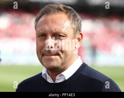 firo: 22.09.2018 Fuvuball, Football: 1.Bundesliga 1.FC Nvºrnberg - Hanover 96, coach Andre Breitenreiter, Hanover, 96, Portrait | usage worldwide - Stock Photo