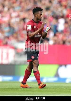firo: 22.09.2018 Fuvuball, Football: 1.Bundesliga 1.FC Nvºrnberg - Hanover 96, Virgil Misidjan, Nvºrnberg, full figure, gesture | usage worldwide - Stock Photo