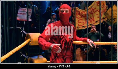 Prod DB © Columbia - Marvel / DR SPIDER-MAN (SPIDERMAN) de Sam Raimi 2002 USA avec Tobey Maguire super héros, costume, catch, ring d'après le comics de Stan Lee - Stock Photo