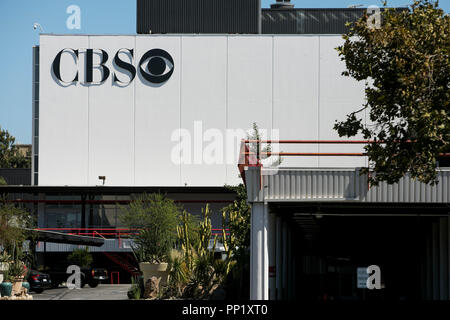 A logo sign outside of CBS Television City in Los Angeles, California on September 15, 2018. - Stock Photo