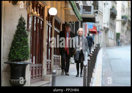 Prod DB © N. Dove - Film4 - Free Range Films - Le Bureau / DR UN WEEK-END A PARIS (LE WEEK-END) de Roger Michell 2013 GB avec Jim Broadbent et Lindsay Duncan couple age - Stock Photo