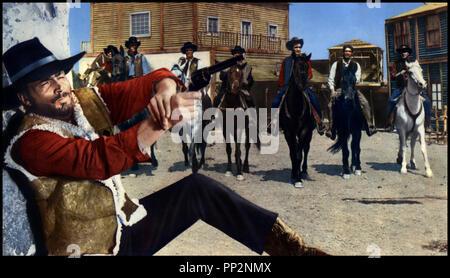 Prod DB © Mega Film / DR LE TEMPS DU MASSACRE (TEMPO DI MASSACRO) de Lucio Fulci 1966 ITA avec Franco Nero western spaghetti, tirer au revolver - Stock Photo