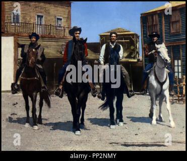 Prod DB © Mega Film / DR LE TEMPS DU MASSACRE (TEMPO DI MASSACRO) de Lucio Fulci 1966 ITA avec Franco Nero western spaghetti, cavaliers - Stock Photo