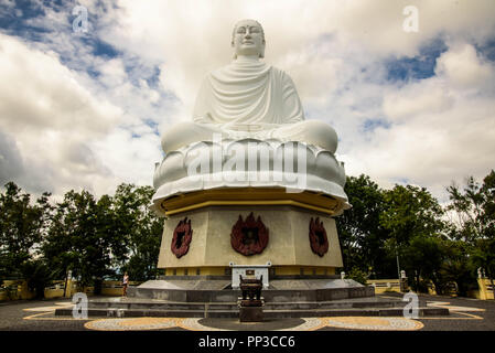 Vietnam, Nha Trang - January 3, 2016: Statue of Big Buddha in Long Son Pagoda - Stock Photo