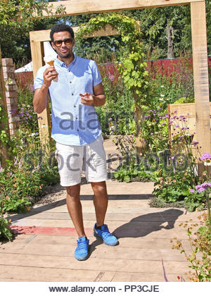 Dean Fagan of 'Coronation Street' visits the RHS Flower Show at tatton park, Knutsford, Cheshire on Tuesday 19 July 2016 - Stock Photo