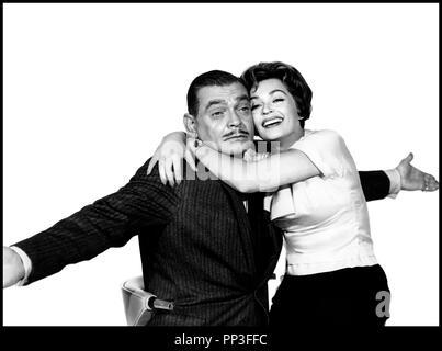 Prod DB © Paramount / DR LA VIE A BELLES DENTS (BUT NOT FOR ME) de Walter Lang 1959 USA avec Clark Gable et Lili Palmer couple, portrait - Stock Photo