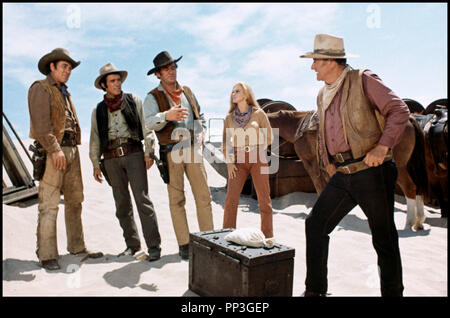 Prod DB © Batjac / DR LES VOLEURS DE TRAINS (THE TRAIN ROBBERS) de Burt Kennedy 1973 USA avec Ben Johnson, Christopher George, Rod Taylor, Ann-Margret et John Wayne western, - Stock Photo