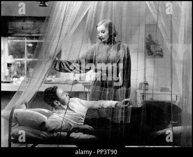 Prod DB ©Metro-Goldwyn-Mayer / DR LE VOILE DES ILLUSIONS (THE PAINTED VEIL) de Richard Boleslawski 1934 USA avec Herbert Marshall et Greta Garbo couple, lit, moustiquaire d'apres le roman de William Somerset Maugham - Stock Photo