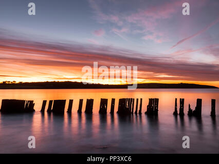 Harbour View, Kilbrittain, Cork, Ireland. 06th October, 2017.  A stunning October dawn morning at Harbour View Co. Cork, Ireland. - Stock Photo