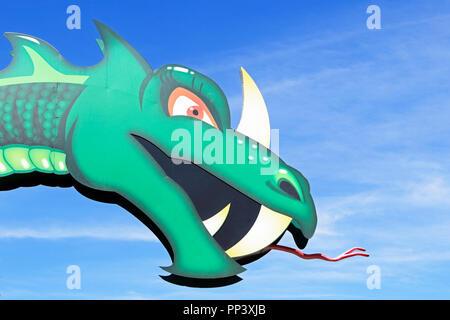 Sea Serpent on Morey's Piers, Wildwood, New Jersey, USA - Stock Photo