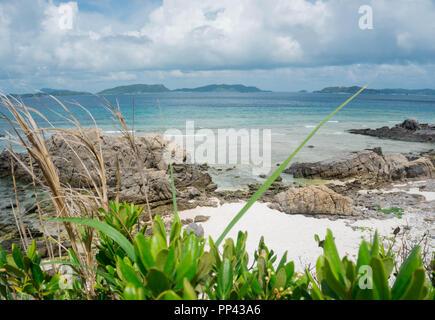 Tagesauflug auf die wunderschöne Insel Tokashiki in Okinawa. - Stock Photo