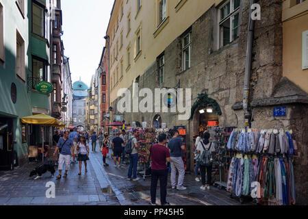 Innsbruck: street Hofgasse, Region Innsbruck, Tirol, Tyrol, Austria - Stock Photo
