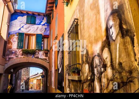 Dozza the painted city - Bologna - Emilia Romagna - Italy - Stock Photo
