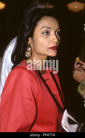 SHAKIRA CAINE Indo-Guyanese-British actress and fashion model married with  the actor SIR michael Caine - Stock Photo