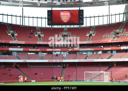 London, UK. 23rd Sept 2018. General view of Premier League match between Arsenal and Everton at Emirates Stadium on September 23rd 2018 in London, England. (Photo by Zed Jameson/phcimages.com) Credit: PHC Images/Alamy Live News - Stock Photo