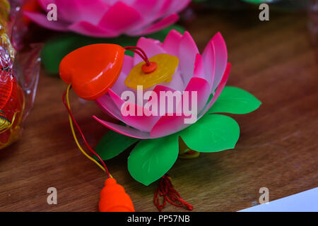 London, UK. 23rd Sept 2018. Chinese moon festival celebration in Chinatown London decorated with Chinese lanterns with Chinese music, food & drinks UK. 23 September 2018. Credit: Picture Capital/Alamy Live News Stock Photo