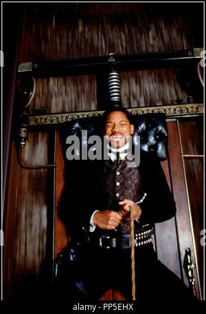 Prod DB © Warner Bros / DR WILD WILD WEST (WILD WILD WEST) de Barry Sonnenfeld 1999 USA avec Will Smith western, rails, douleur d'apres la serie tele (TV) 'LES MYSTERES DE L'OUEST) - Stock Photo