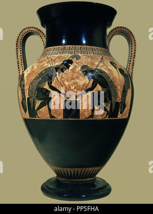 Funeral Vase With Achilles And Ajax Playing Checkers Vatican