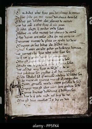 El Cantar Del Mio Cid Escrito Hacia 1140 Copia Del Siglo Xiv