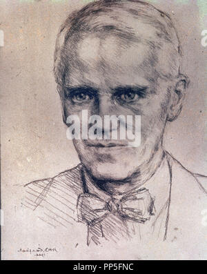 ALEXANDER FLEMING (1881-1955) - Scottish physician, microbiologist, and pharmacologist. - Stock Photo