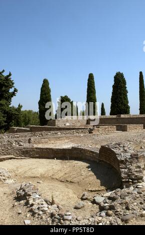 Spain. Italica. Roman city founded c. 206 BC. Andalusia. Stock Photo