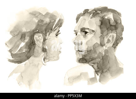 Woman and man in relationship. - Stock Photo