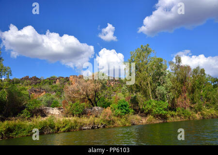 Views of Arnhem Land taken from the East Alligator River,Northern Territory, Australia - Stock Photo
