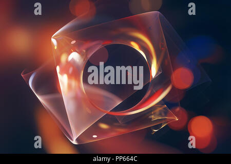 Colorful glowing fractal surface, computer generated abstract background, 3D rendering