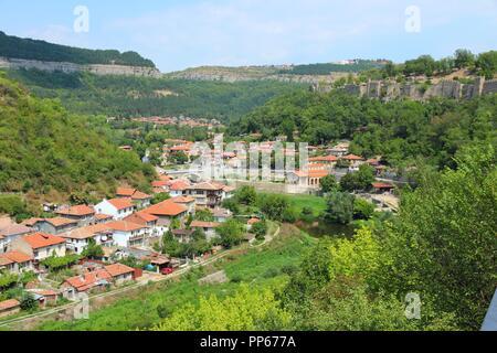 Veliko Tarnovo in Bulgaria. Famous old town. - Stock Photo