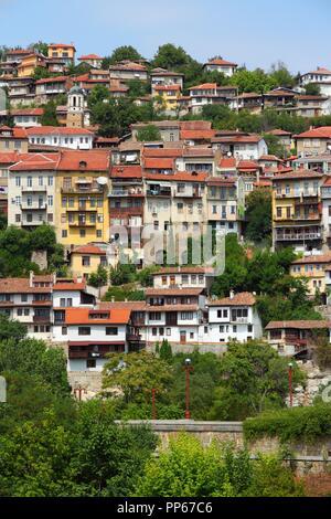 Veliko Tarnovo in Bulgaria. Famous town located on three hills. - Stock Photo