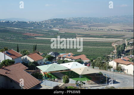 landscape of South Lebanon, North Israel - Stock Photo