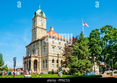 Rockingham County Courthouse, Court Square, Harrisonburg, Virginia - Stock Photo