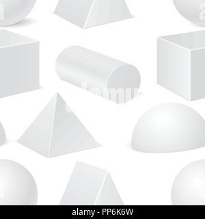 Seamless pattern with geometric shapes mockups - Stock Photo