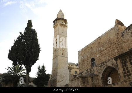 Israel. Jerusalem. Basilica of the Holy Sepulchre. Outside. View. - Stock Photo