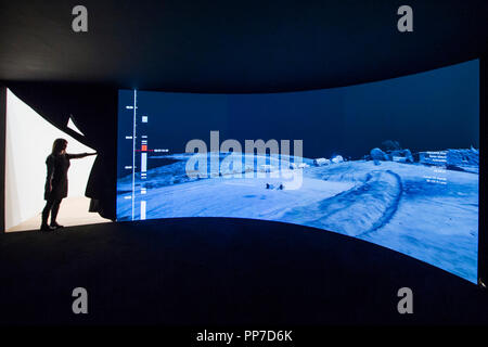 London, UK. 24th Sep 2018. Forensic Architecture's investigations surrounding Bedouin villages - An exhibition of work by the four Turner Prize shortlisted artists: Forensic Architecture, Naeem Mohaiemen, Charlotte Prodger and Luke Willis Thompson. Credit: Guy Bell/Alamy Live News - Stock Photo
