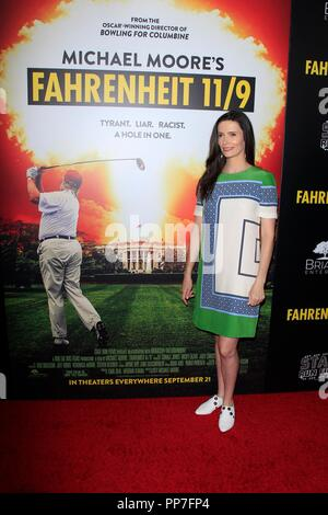 Bitsie Tulloch at arrivals for FAHRENHEIT 11/9 Premiere, Samuel Goldwyn Theater at AMPAS, Beverly Hills, CA September 19, 2018. Photo By: Priscilla Grant/Everett Collection - Stock Photo