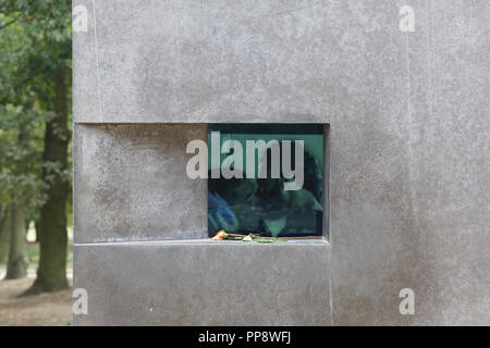 The Memorial to Homosexuals persecuted under Nazism - Stock Photo