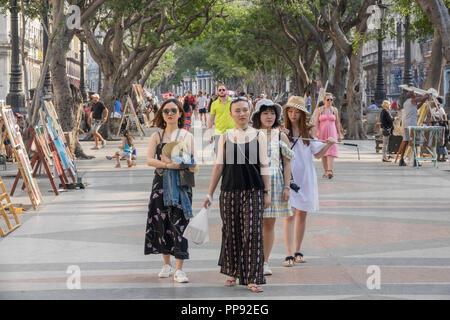 CUB, Kuba, Havanna, 18.03.2018, Havanna Künstlermarkt auf der  Paseo del Prado Paseo de Martí  [2018 Christoph Hermann] - Stock Photo