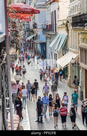 CUB, Kuba, Havanna, 19.03.2018, Havanna Calle Obispo [2018 Jahr Christoph Hermann] - Stock Photo