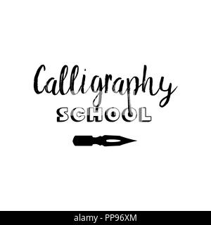 Calligraphy classes lettering logo isolated design  Online