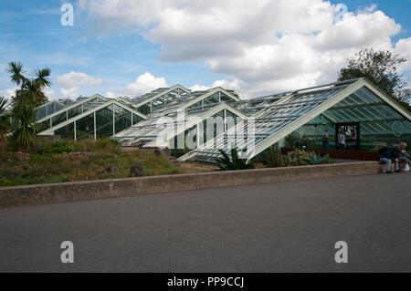 The Princess Of Wales Conservatory in The Royal Botanic Gardens Kew Gardens London England UK - Stock Photo