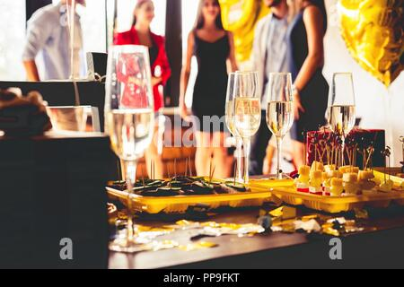 Buffet Dinner Dining Food Celebration Party Concept. - Stock Photo